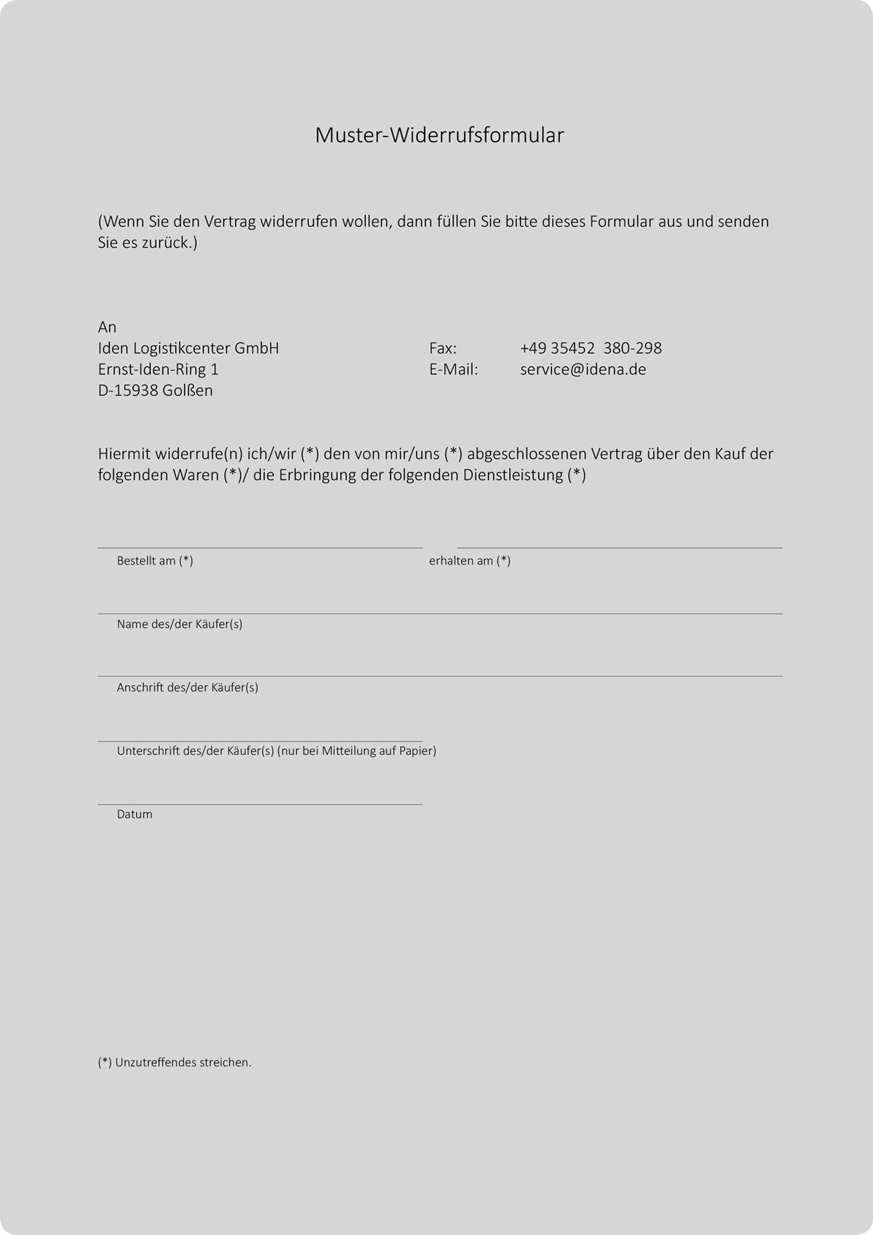 Vertrag widerruf  Kündigen wegen Widerruf  2019-05-12