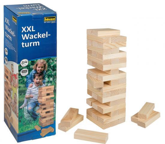 XXL Wackelturm, 15 x 15 x 54 cm, aus Holz