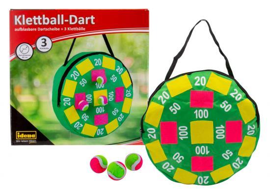 Klettball-Dart, Ø 40 cm, mit 3 Klettbällen, aufblasbar