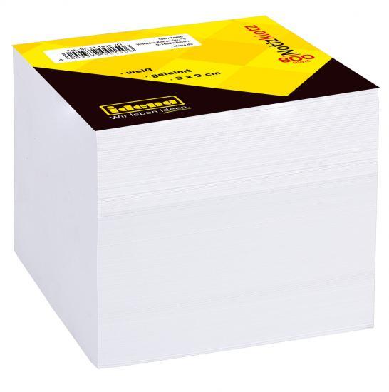Notizklotz, 800 Blatt, 9 x 9 cm, 70 g/m², geleimt, weiß