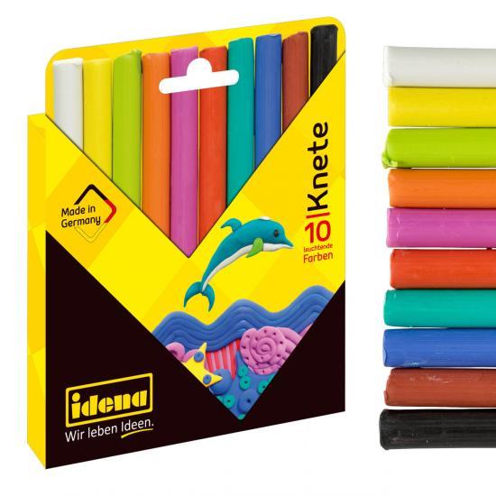 Knete, 10 Stangen/10 Farben, in Kartonetui