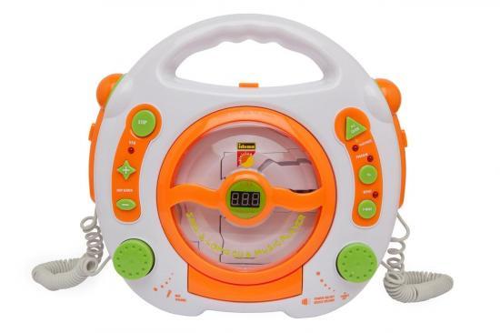 CD-Player für Kinder, mit 2 Mikrofonen und USB-Anschluss, tragbar