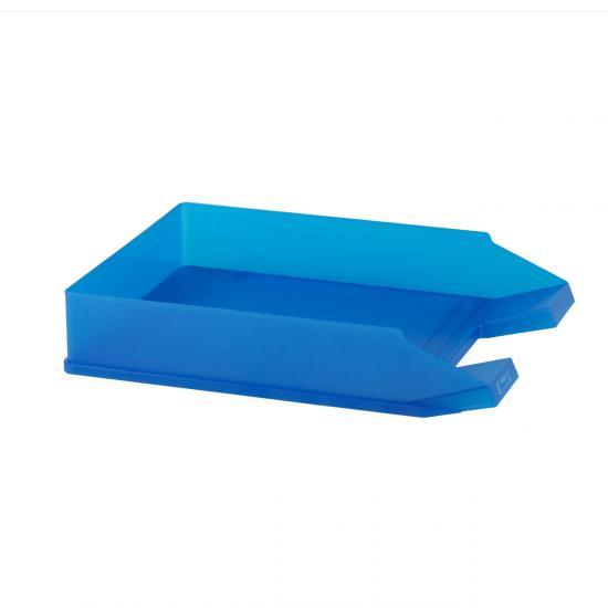 Ablagekorb, 25,3 x 35 cm, DIN A4 - C4, stapelbar, transluzent, royalblau