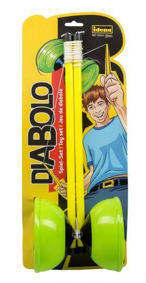 Diabolo Spiel-Set, grün/gelb