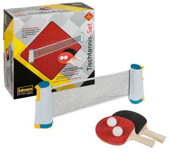 Tischtennis-Set mit ausziehbarem Netz, 2 Schlägern und 2 Bällen