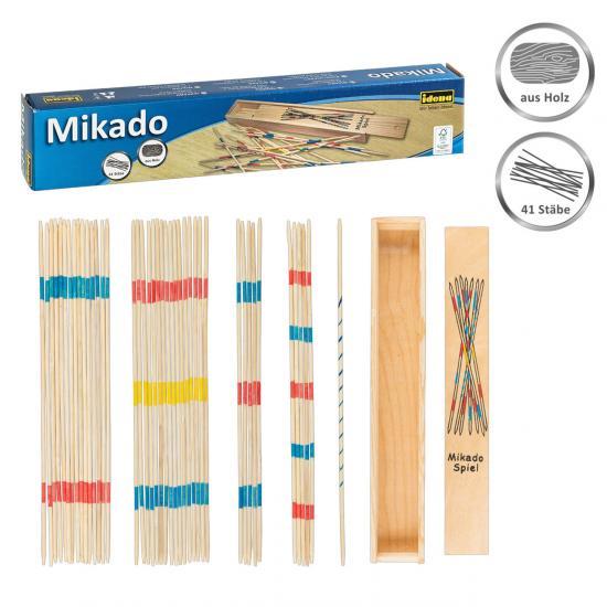Mikado Spiel, FSC® 100 %, 41 Stäbchen, in praktischer Holzbox, inkl. Anleitung