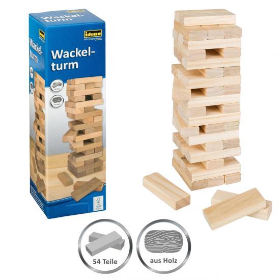 Wackelturm-Spiel, 54 Bausteine, aus Holz, FSC® 100 %