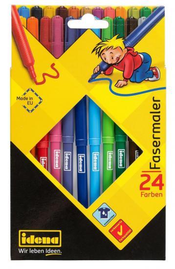 Fasermaler, 24 Farben, 2 mm Spitze, farbintensiv