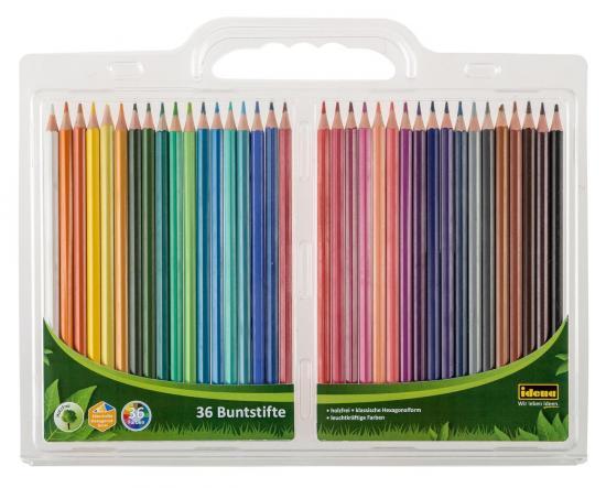 Buntstifte, 36 Farben, klassische Hexagonalform, holzfrei