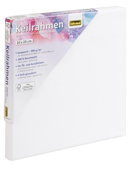 Keilrahmen, 20 x 20 cm, FSC® 100 %, für Öl- und Acrylfarben
