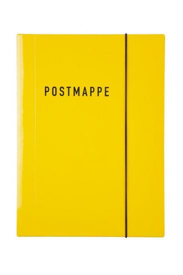 Postmappe, DIN A4, FSC® Mix, Glanzkarton, gelb