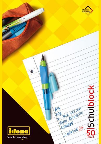 Schulblock A4 liniert, FSC® Mix