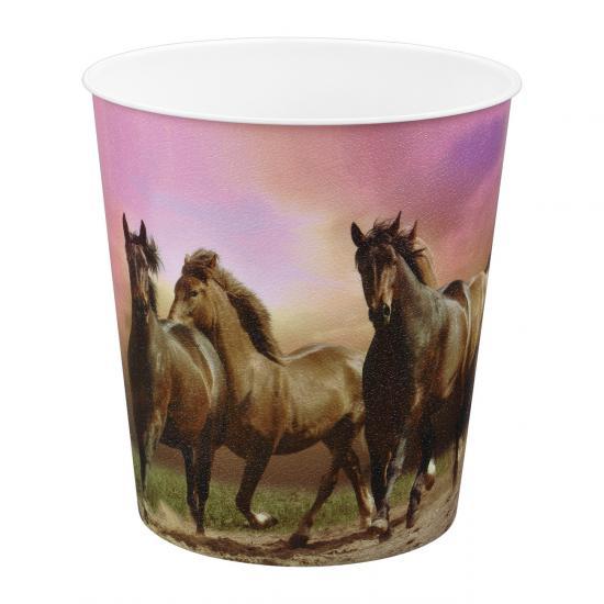 Papierkorb, Pferde Motiv, 9 Liter, Kunststoff