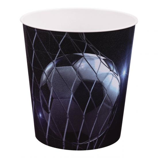 Papierkorb, Fußball Motiv, 9 Liter, Kunststoff