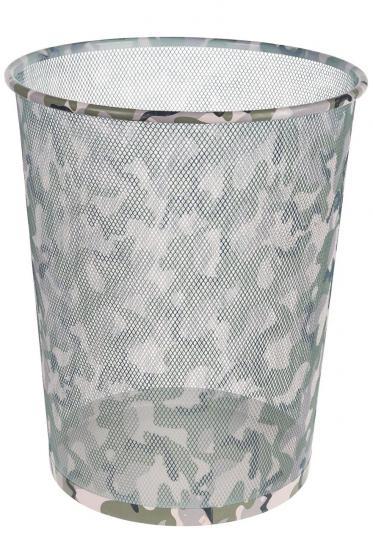 Papierkorb Camouflage, aus Metall, für ca. 17,7 Liter
