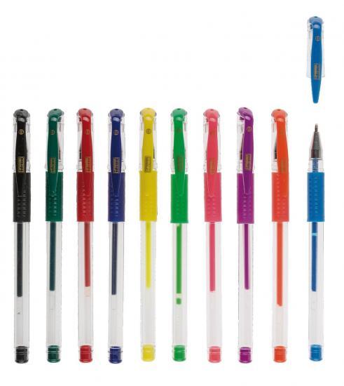 Gelstifte, 10 Stück, 4 Standardfarben/6 Neonfarben