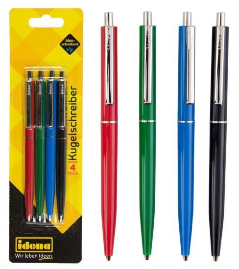 Kugelschreiber, 4 Stück, blauschreibend
