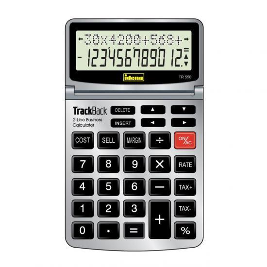 Taschenrechner TR 550, 12-stelliges Display, grau/schwarz