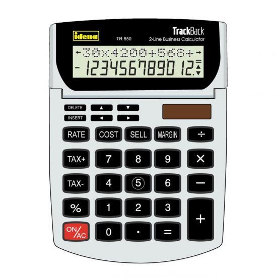 Tischrechner TR 650, 12-stelliges Display, grau/schwarz