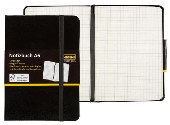 Notizbuch A6 kariert, FSC® Mix
