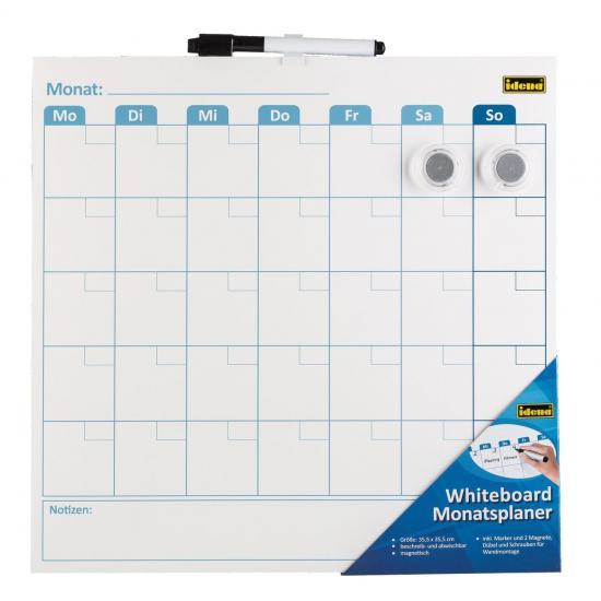 Whiteboard-Monatsplaner, 35,5 x 35,5 cm, inkl. Zubehör
