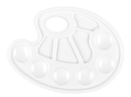 Mischpalette, aus Kunststoff, weiß
