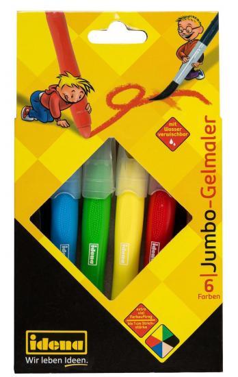 Jumbo-Gelmaler, 6 Farben, bis 1 cm Strichstärke