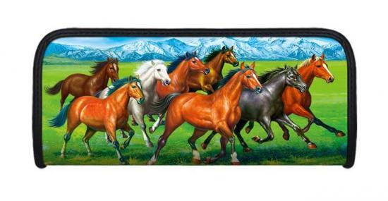 Faulenzer 3D-Optik, Motiv Pferde, 21 x 9 x 4,6 cm
