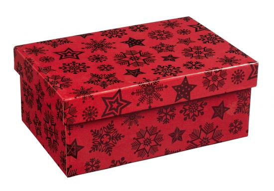 "Geschenkbox ""Rot Metallic"", 21 x 14 x 9 cm"