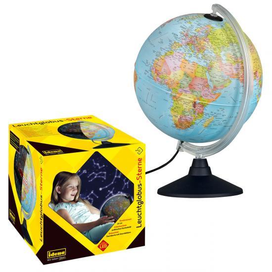 Leuchtglobus mit politischem Kartenbild und Sternbildern, Ø 25 cm