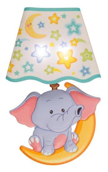 "LED-Wandsticker ""Elefant"", 21 x 13 cm, Berührungs-Sensor"