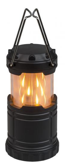 LED Mini-Laterne, mit Flammenoptik & weißem Licht, Batteriebetrieb, ausziehbar, 14 cm