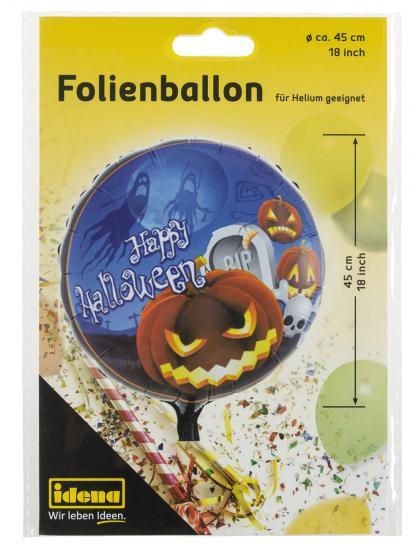 """Folienballon """"Happy Halloween"""", Ø 45 cm, für Helium geeignet"""