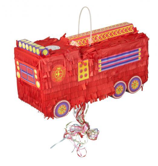 Piñata Feuerwehrauto, 46 x 17 x 22 cm