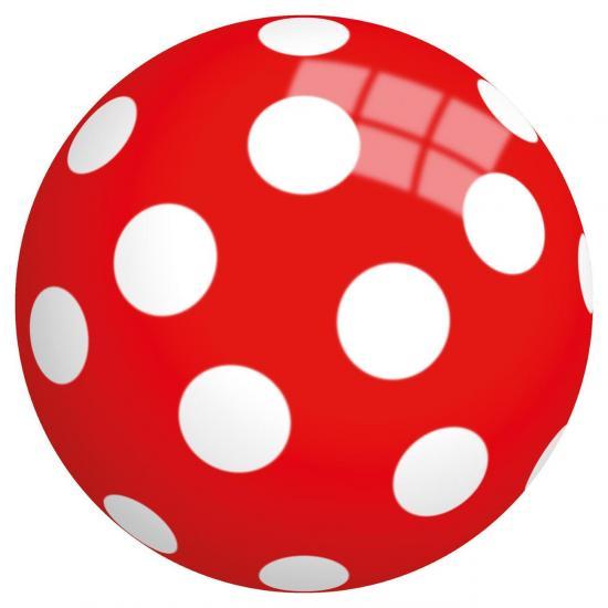 """Spielball """"Punkte"""", 23 cm Durchmesser, aus Vinyl"""
