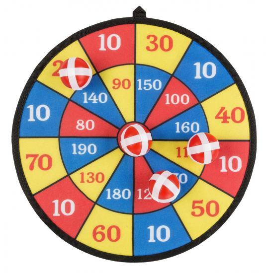 Klettball-Dart, Durchmesser 35 cm, mit 4 Klettbällen