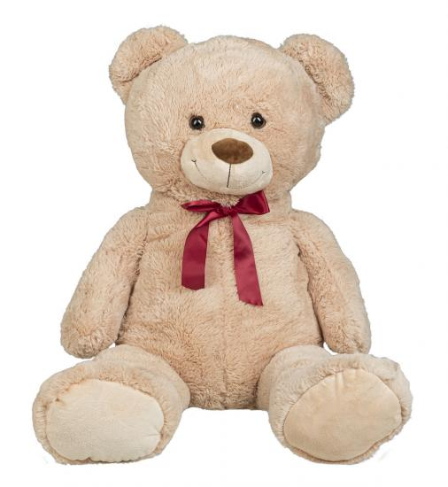 XXL Teddybär mit Schleife, 100 cm