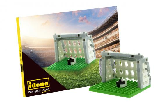 Postkarte Minibausteine Fußball