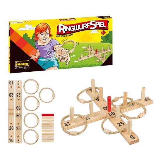 Ringwurfspiel aus Holz und Sisal
