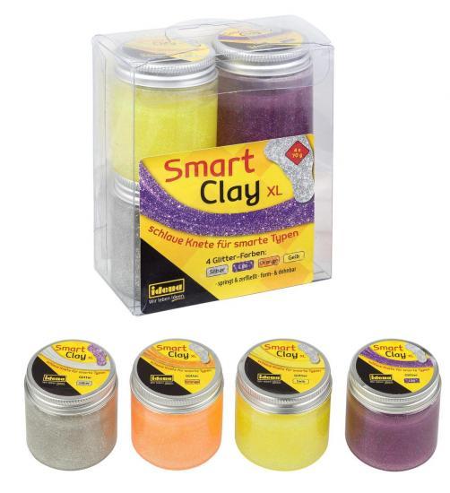 Smart Clay XL, 4 x 70 g, 4 Glitter-Farben