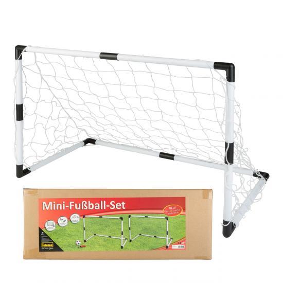 Mini-Fußball-Set, 2 Tore inklusive Ball und Ballpumpe
