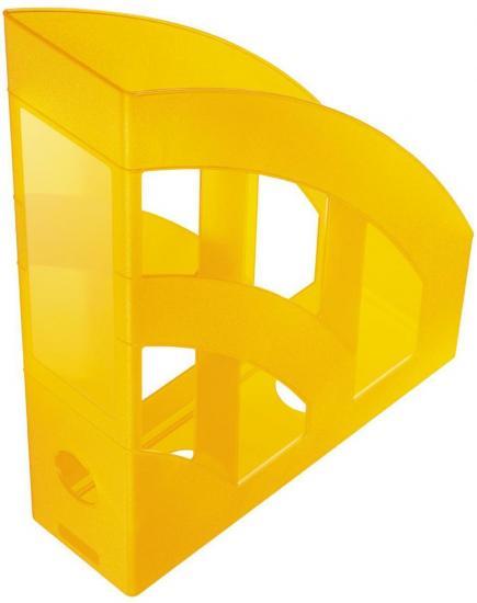 Stehsammler, DIN A4, aus Kunststoff, transluzent, gelb