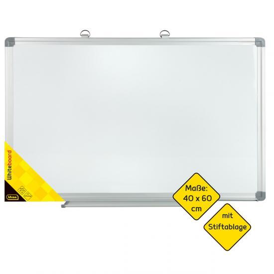 Whiteboard, 40 x 60 cm, mit Aluminium-Rahmen