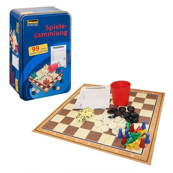 Spielesammlung, 99 Spielmöglichkeiten, in Tinbox, inkl. Anleitung