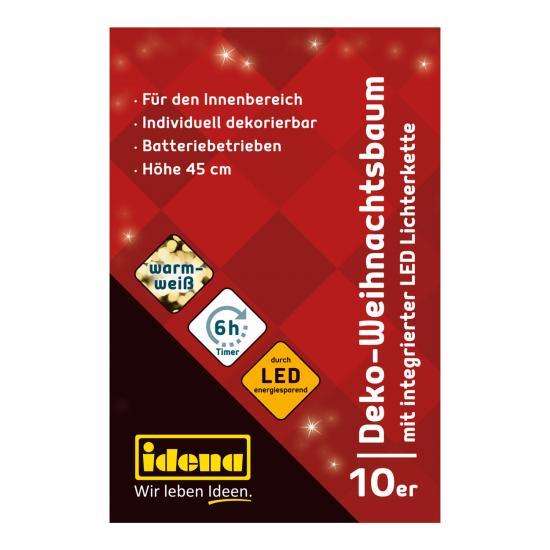 Dekobaum mit 10 LEDs, 45 cm