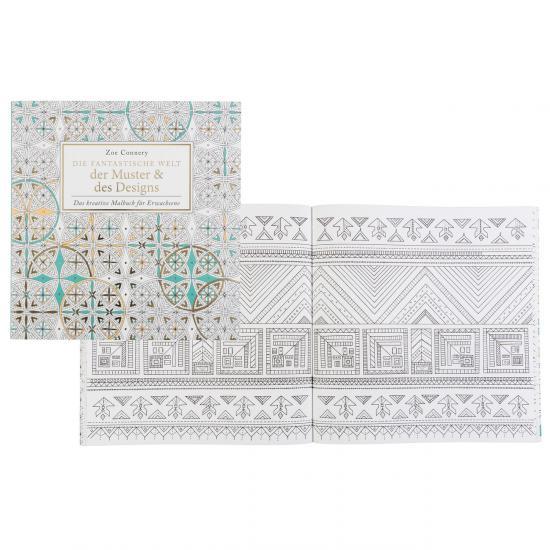 """Malbuch """"Muster & Designs"""", 24,5 x 25,5 cm"""