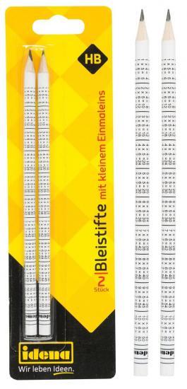 Bleistifte, FSC® 100 %, 2 Stück, HB, mit kleinem Einmaleins
