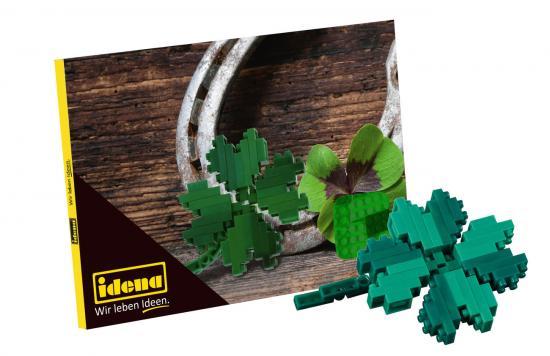 Postkarte Minibausteine Kleeblatt