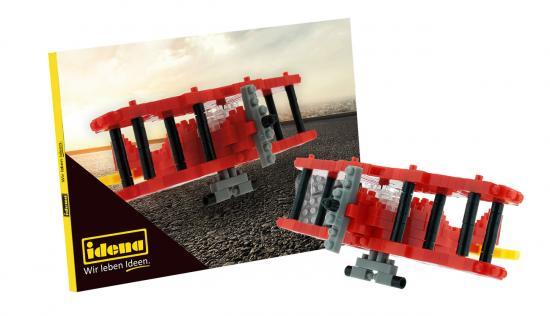 Postkarte Minibausteine Doppeldecker