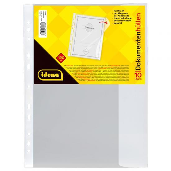 Dokumentenhüllen, DIN A4, 10 Stück, extra stark, genarbt, 120 µ